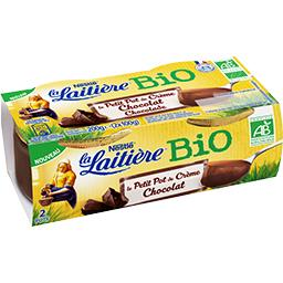 Nestlé La Laitière Le Petit Pot de crème chocolat BIO les 2 pots de 100 g