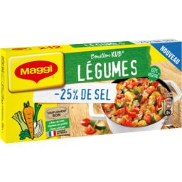 Maggi Maggi Bouillon Kub légumes réduit en sel la boite de 12 - 120 g