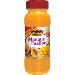 Nappage à la purée de mangue et de fruits de la pass...