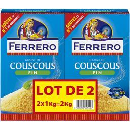 Ferrero Couscous Graine de couscous fin les 2 boites de 1 kg