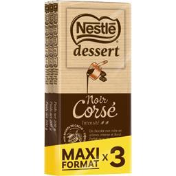 Nestlé Nestlé Chocolat Dessert - Chocolat noir corsé les 3 tablettes de 200 g - Maxi format