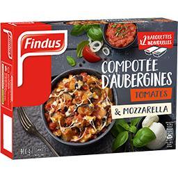 Compotée d'aubergines tomates & mozzarella fondante