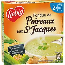 Pur'Soup - Fondue de poireaux aux St Jacques