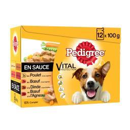 Pedigree Pedigree Pâtée Vital Protection viandes en sauce pour chiens les 12 sachets de 100 g