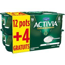 Danone Activia - Lait fermenté nature les 12 pots de 125 g