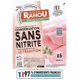 Jambon Le Tradition conservation sans nitrite