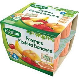 Pommes fraises bananes, dès 6 mois
