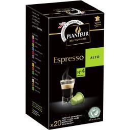 Planteur des Tropiques Capsules de café Espresso Alto la boite de 22 capsules - 104 g