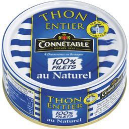 Thon entier 100% filets au naturel