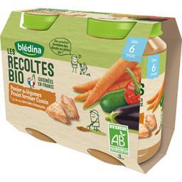 Blédina Les Récoltes BIO - Légumes poulet cumin BIO, dès 6 m... les 2 pots de 200 g