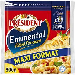 Président Président Emmental râpé fondant le sachet de 500 g