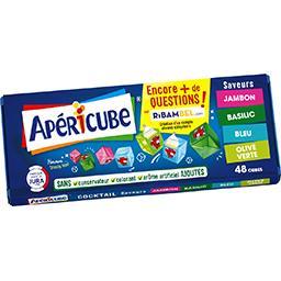Apéricube Apéricube Spécialité fromagère saveurs jambon/basilic/bleu/olive verte la boite de 48 cubes - 250 g