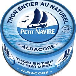 Petit Navire Thon entier au naturel albacore