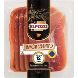 Elpozo Jambon Serrano la barquette de 6 tranches - 100 g