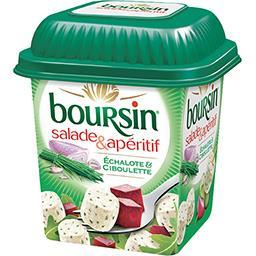 Boursin Boursin Salade & Apéritif - Bouchées fromagères échalote & ciboulette la boite de 120 g