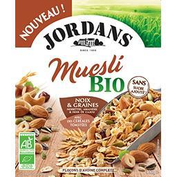 Jordans Jordans Céréales muesli bio - noix et graines le paquet de 450g