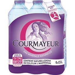 Courmayeur Courmayeur Eau minérale naturelle les 6 bouteilles de 1,5L - 9L