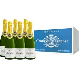 Charles De Cazanove Champagne Brut Charles De Cazanove les 6 bouteilles de 75 cl