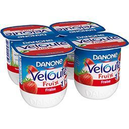 Danone Danone Velouté Fruix - Yaourt brassé fraise les 4 pots de 125 g