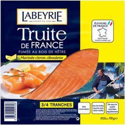 Truite de France fumée marinée citron ciboulette
