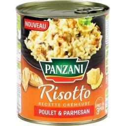 Plat cuisiné risotto poulet parmesan Panzani