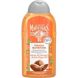 Le Petit Marseillais Le Petit Marseillais Shampooing Infusion Nutrition calendula et huile d'argan BIO le flacon de 250 ml