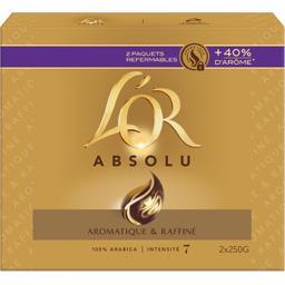 Maison du Café L'Or Café moulu Absolu intensité 7 les 2 paquets de 250 g