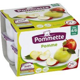 Compote pomme, dès 4/6 mois