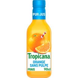 Tropicana Tropicana Pur jus d'orange sans pulpe la bouteille de 900 ml