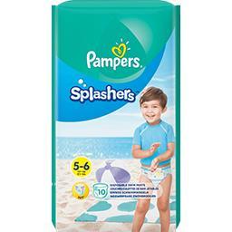 Pampers Pampers Couches-culottes de bain jetables splashers t5-6 Le paquet de 10