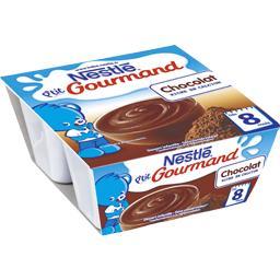 Nestlé Nestlé Bébé P'tit Gourmand - Dessert chocolat, 8+ mois les 4 pots de 100 g