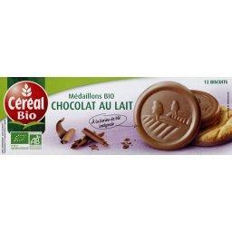 BioKid - Biscuits médaillon BIO chocolat au lait