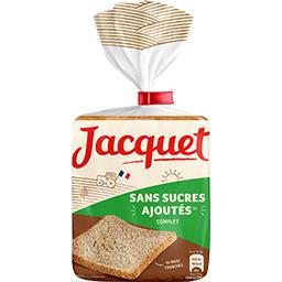 Jacquet Jacquet Sans Sucres Ajoutés - Pain de mie complet grandes tranches le paquet de 14 tranches - 550 g
