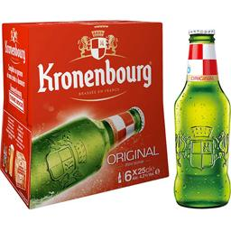 Kronenbourg Kronenbourg Bière blonde Original les 6 bouteilles de 25 cl