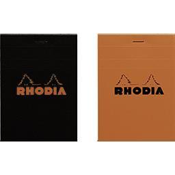 Rhodia Bloc non perforé agrafé 85x120 5x5 coloris assortis