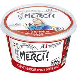Crème fraîche épaisse entière 30% MG