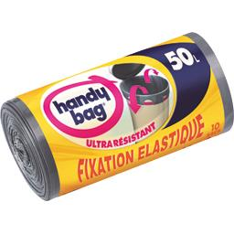 Sacs poubelle fixation élastique 50 l