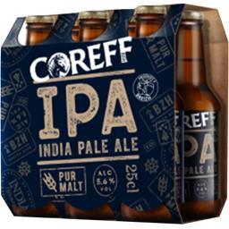 Coreff Bière India Pale Ale les 6 bouteilles de 25 cl