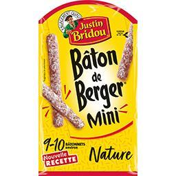 Justin Bridou Justin Bridou Le Bâton de Berger - Mini saucisson sec nature le sachet de 100 g