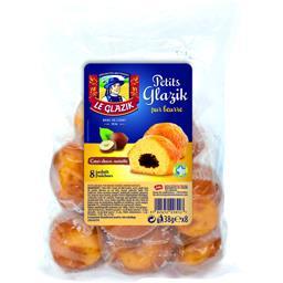 Le Glazik Gâteaux Petits Glazik pur beurre cœur choco-noisette les 8 gâteaux de 38 g