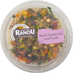 Salade quinoa, légumes d'été & yaourt grec