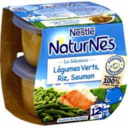 Les Sélections - Légumes verts, riz, saumon, dès 12 ...