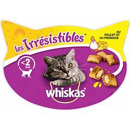 Whiskas Whiskas Les Irrésistibles - Friandises au poulet & fromage pour chats la boite de 60 g