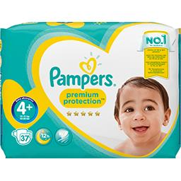 Pampers Couches Premium Protection, taille 4+ : 9-18 kg