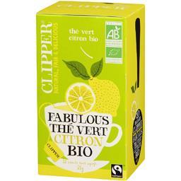 Clipper Clipper Thé vert Fabulous au citron bio la boite de 20 sachets - 35 g