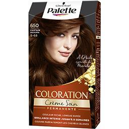 Coloration crème soin châtain acajou 650