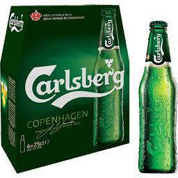 Carlsberg Carlsberg Bière premium les 6 bouteilles de 25 cl