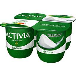 Danone Activia Lait fermenté nature les 4 pots de 125 g