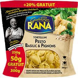 Tortellini pesto basilic & pignons