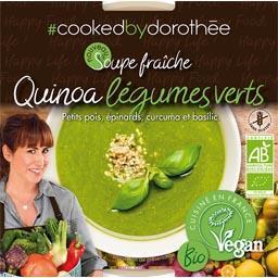Cooked by Dorothée Soupe fraîche quinoa légumes verts BIO le pot de 300 g